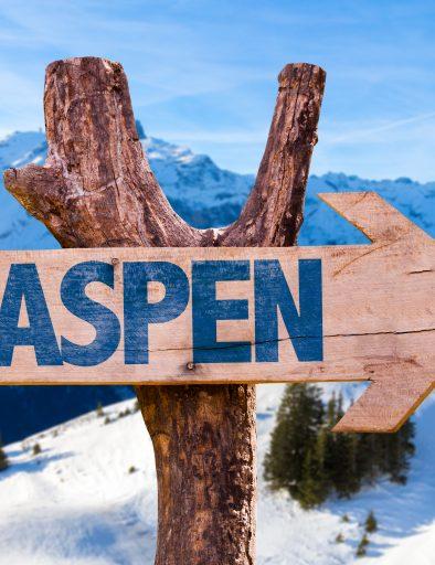 Wooden sign of Aspen