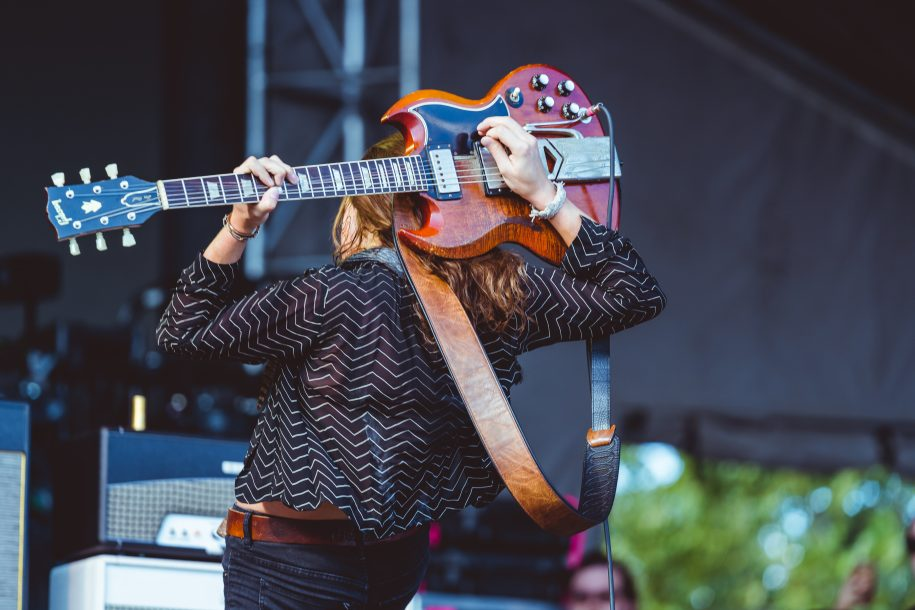 Guitarrist performs onstage at Zilker Park during Austin City Limits
