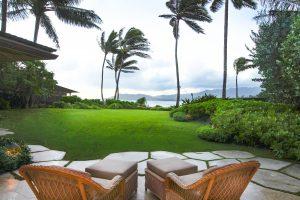 beautiful terrace in hawaii