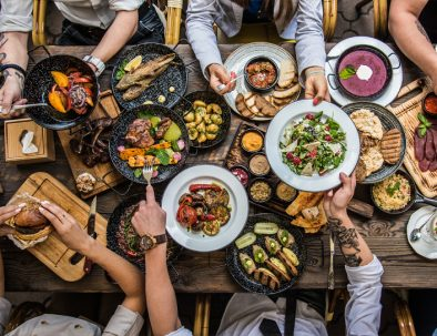 friends dining in Boulder